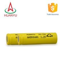 ni-cd aa900mah 4.8v 1.2v ni-cd rechargeable battery for solar lights