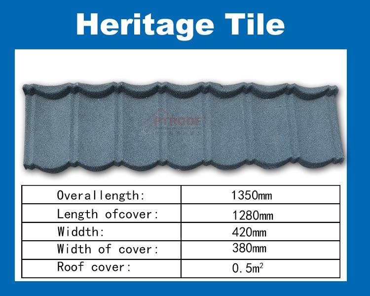 metal roof tile-heritage tile