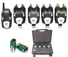 4+1 K001/FM02 Carp fishing alarm set With interchangeable LEDs covers