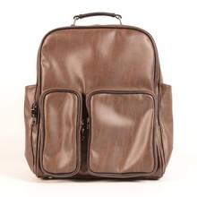 Fashion PU leather designer man laptop backpack bag