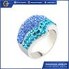 CCR1049 new design gemstone engagement Tungsten rings