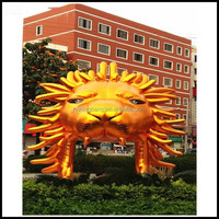 NB-CT302 height 6m inflatable lion head tunnel for sports event on sale!!!