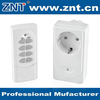 433.92mHz,range up to 50m,AC220v,IP44,energy-saving for home appliance with plug, wireless remote control smart socket switch