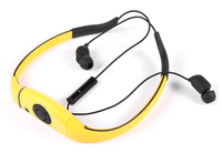 Waterproof sport stereo headset wireless bluetooth headphones with mp3 player