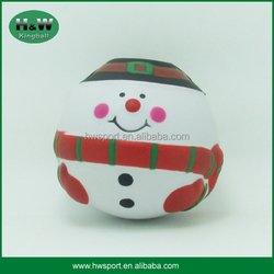 pu stress ball toy of father christmas shape