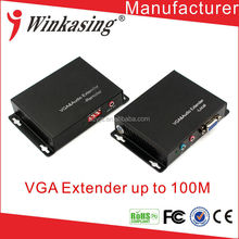 high quality VGA Extender with audio by CAT5/5e/ 6 Cable for vga extender 100m