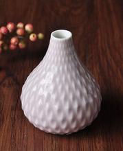 Modern embossed ceramic flower vase Pink for decoration