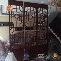Top Grade Elegant Lexury MDF Wood Grille Laser Cutting Screen Panels Indoor Villa Decoration
