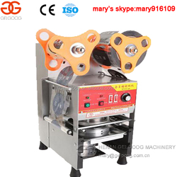 Low cost automatic fruit juice cup sealing machine/cup sealer