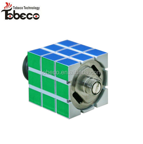 Tobeco authentic rubik rda atomizer with peek insulation high quality air from top and bottom original rubik rda
