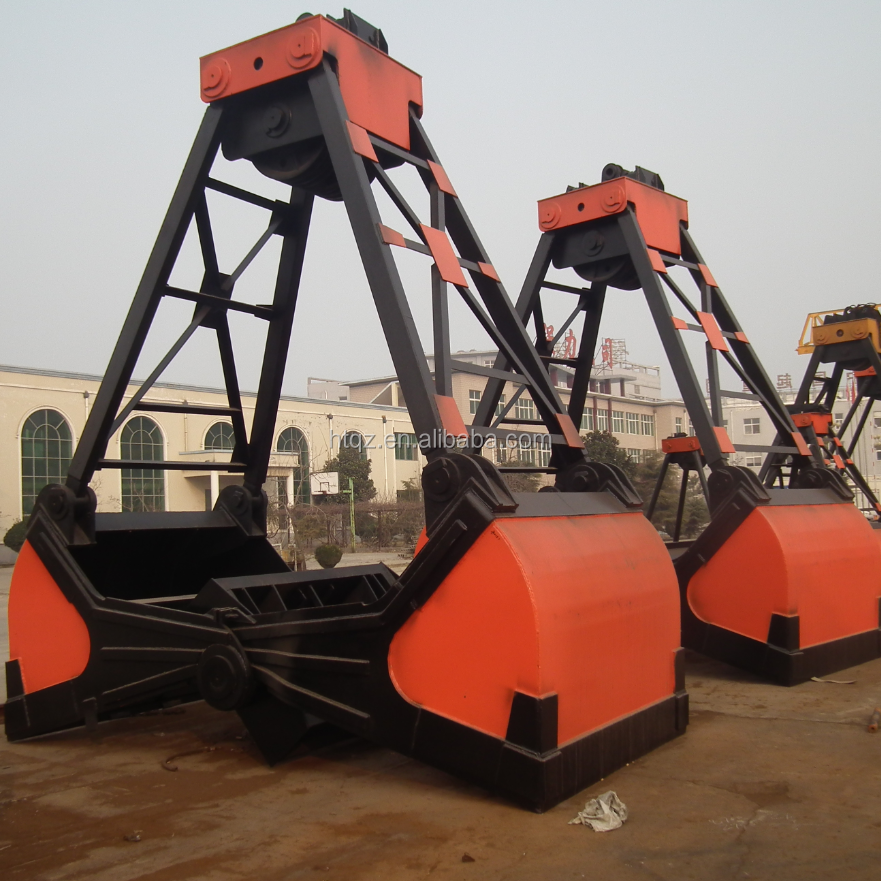 Heavy duty equipment excavator grab bucket remote control