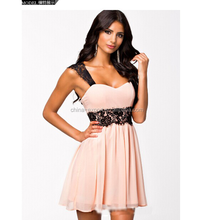 JPSKIRT1507033 Elegant Spaghetti Strap Lace Evening Dress