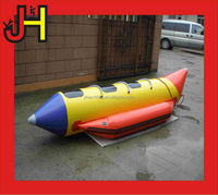 0.9mm PVC tarpaulin inflatable water games banana boat / flying fish boat for sale