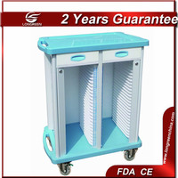 LG-CRT001A 50 layers ABS hospital patient file trolley