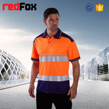 red 160gsm net reflective safety t-shirt for running america long sleeves safety yellow t-shirts emergency safety t-shirt