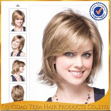 Most popular products 100% Japanese kanekalon highlights cheap synthetic hair wig