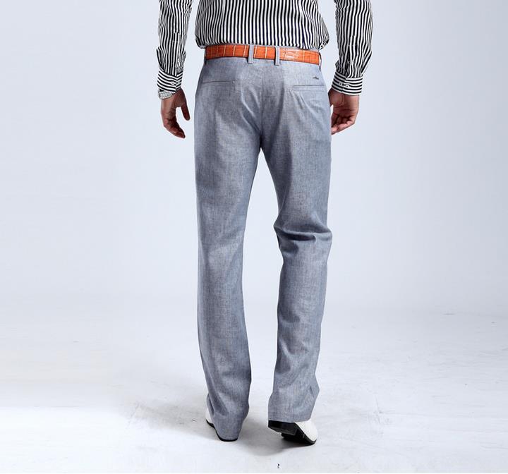 2019 Wholesale Hot Salesummer New Mens Linen Cotton Dress Pants