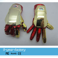Factory sole Iron man shape plastic usb pen drive 4gb