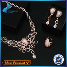 New style hot sale cheap silver plated jewelry sets