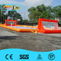 CILE Top Sale Bright Orange Inflatable Football Arena for Sport Game
