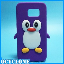 Penguin cartoon soft rubber silicone back cell phone case for samsumg galaxy s6 edge