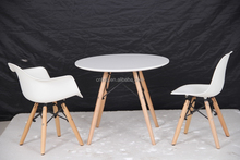 modern replica child dining room furniture wholesale dsw emes plastic chair and solid wooden table sets for kids