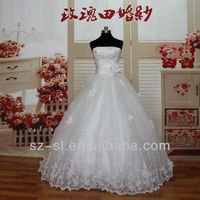 Top Fashion High Grade Actual Wedding Dresses Adorn By Handmade Flowers And Beading12118
