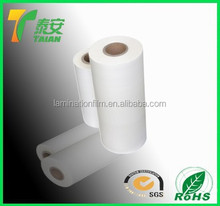 TA china supplier glossy and matt thermal lamination plain BOPP film for basketball/packaging