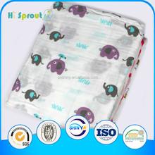 "100% Organic Cotton Muslin Wrap Blanket 47x47"" Baby Muslin Swaddle"