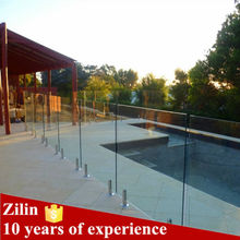 High quality free design glass pool fence for swimming pool