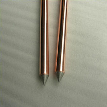 high voltage pure threaded stainless steel grounding rod