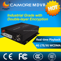 Caimore GPS 3g 2ch/4CH 2TB+128GB HDD MDVR/ vehicle mobile dvr with free CMS software with certificate
