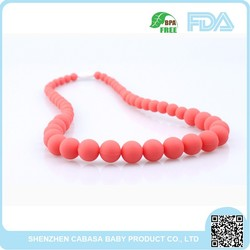 2015 Food Grade silicone teething necklace,Silicone Teething Jewelry For Baby