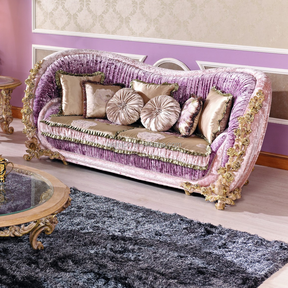 Wooden Love Seat Sofa Design ~ Italian luxury living room furniture classic rose wooden