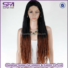 wholesale lace front synthetic hairmicro braids wig, braided wigs for black women,box braid lace wig