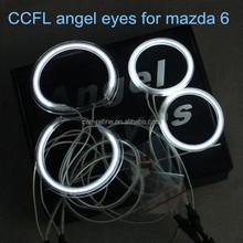 car ccfl led angel eyes headlight drl halo ring angel eyes kit for mazda 6 non projector 2x72mm 2x98.7mm ccfl ring error free