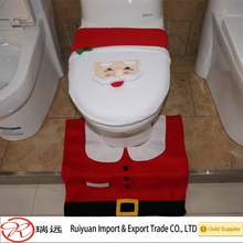 Christmas costume Happy Santa toilet seat cover made in China