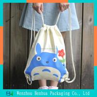 Cotton canvas non-woven polyester drawstring bag