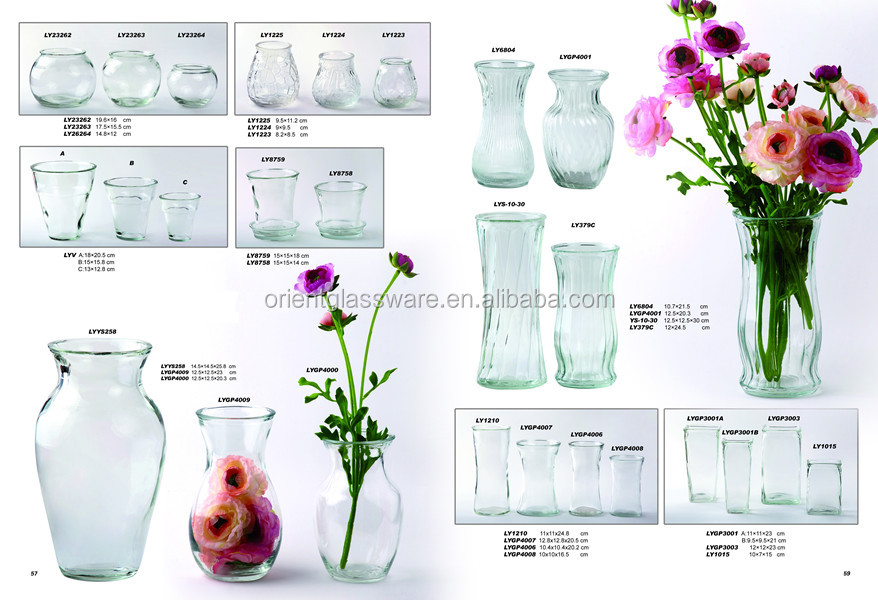 Clear Glass Vase Glass Flower Vase Wholesale Buy Clear Glass Vase