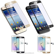 2015 new product anti-fingerprint 3d round edge Tempered Glass Screen protector/film for Samsung S6 edge S6 edge plus