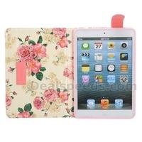Elegance Double-color Design Stand Leather Foldable Case for iPad Mini 2 Retina iPad Mini 2 (Yellow/Pink)