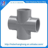 China new design Plastic injection industry pvc pipe fittings/cross