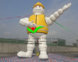 Commercial advertising cartoon PVC Tarpaulin 19.6ft tall inflatable tyre man