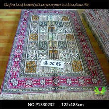 since 1978 china Multi-pattern handmade 100% silk rugs for sale