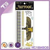 Temporary Jewelry Gold And Silver Tattoos,Tattoo-Ink,Hot Fix Stone Sticker Design
