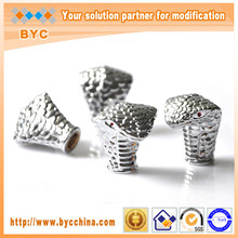 BYC Car Accessories Plating Tire Valve Caps with Snake Head Shape