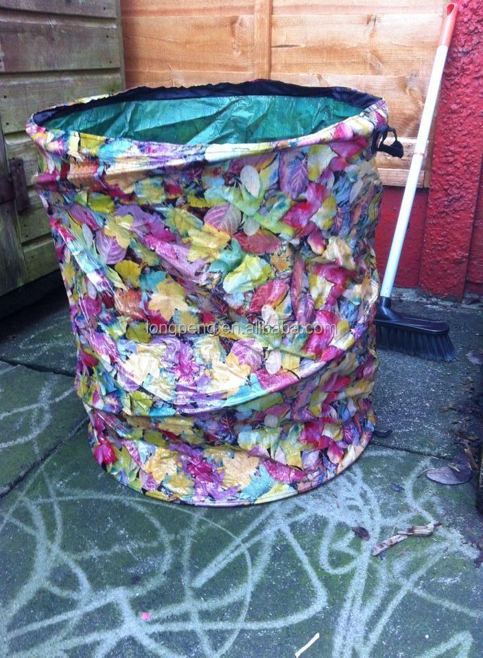 large pop up garden bag waste weeds leaves tidy bin sack. Black Bedroom Furniture Sets. Home Design Ideas