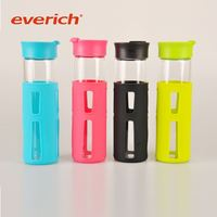 2015 new products Leak-proof durable glass water bottle