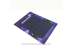 New Design Paper Advertising Polysilicon Solar Panel Power Bank Charger