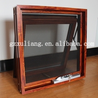 2015 hot sales aluminum awning windows with mosquito net/flyscreen